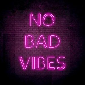 Neoninis LED ženklas No bad vibes