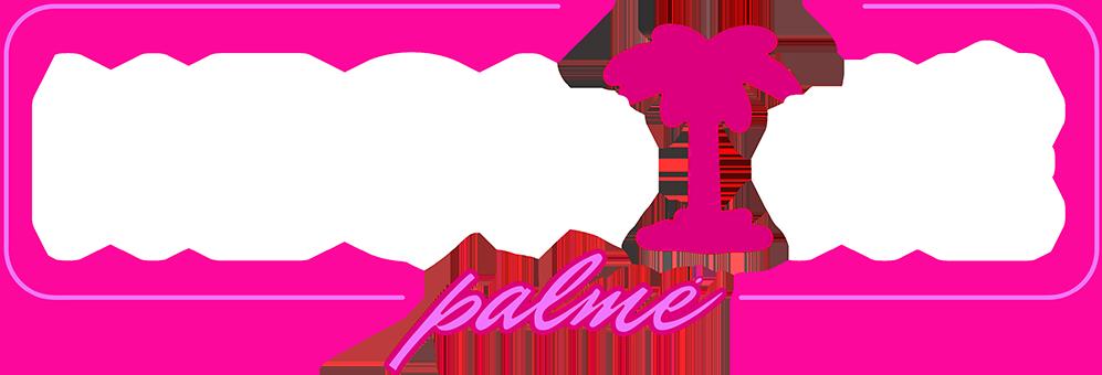 neonine palme logotipas