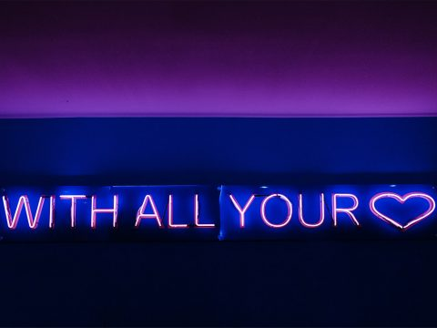 neoninis LED ženklas with all your love