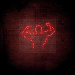 neoninis LED ženklas Bodybuilder