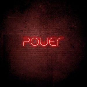 Neoninis LED ženklas Power