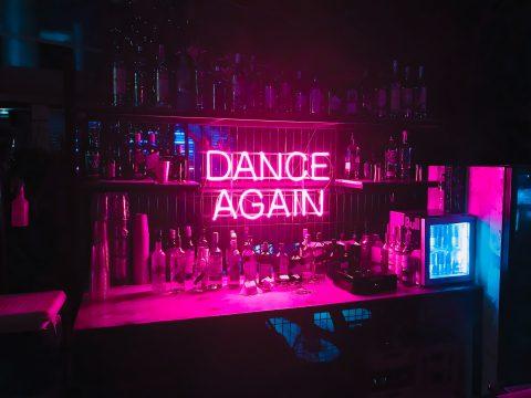 Neoninis LED ženklas Dance again