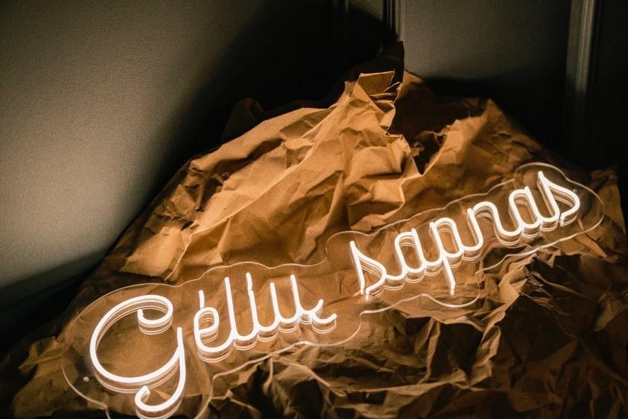 Neoninis LED ženklas Gėlių sapnas
