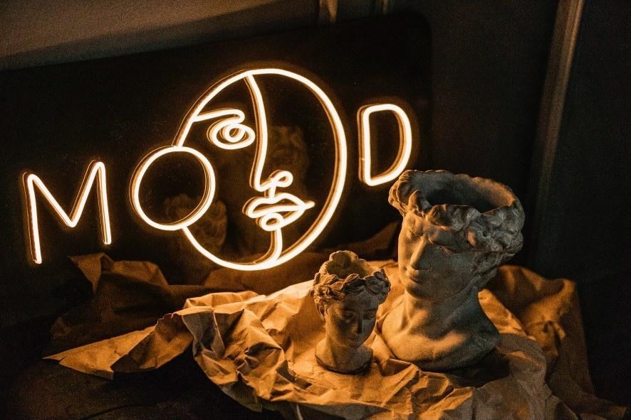 Neoninis LED ženklas Mood